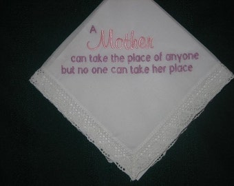 A perfect Mother of the Bride or Mother's Day handkerchief 188 with FREE gift box and FREE shiping in the Us.