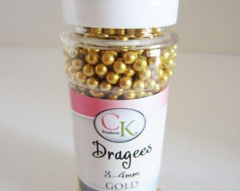 ck gold dragees 3-4 mm, 2.1 oz bottle