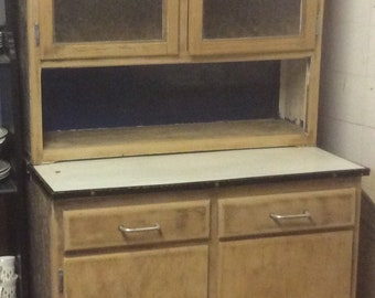 1950s Kitchen cabinet kitchenette stripped pine