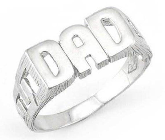 Sterling Silver Dad Ring