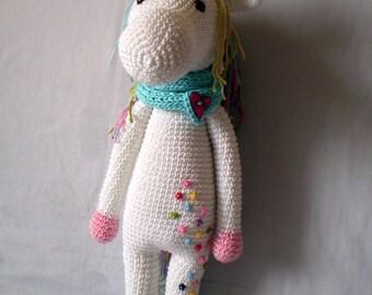 Large amigurumi unicorn Unicorn toy Crochet unicorn doll Unicorn amigurumi Unicorn stuffed animal  Free shipping