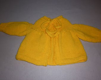 Yellow knit with Gold coat