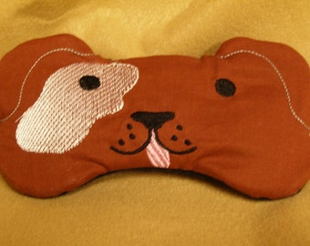 Embroidered Eye Mask for Sleeping, Cute Sleep Mask for Kids or Adults, Sleep Blindfold, Eye Shade, Slumber Mask, Puppy Dog Design, Handmade