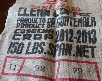 Burlap Bag Coffee Sack — Clean Coffee -Guatemala- 150-LB Gunny