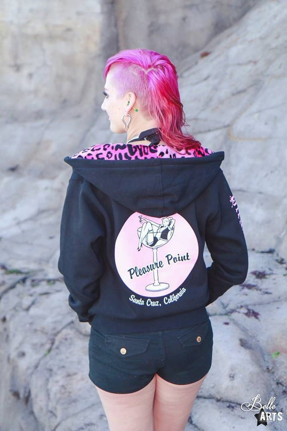 Cocktail Girl Pin-Up Zip Hoodie