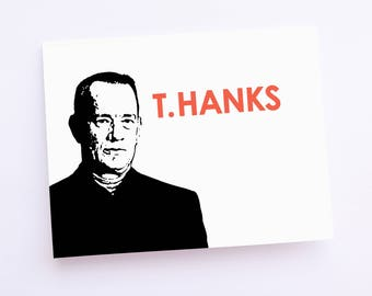 Buy More : Save More   T. Hanks   Thank You Card   Blank   Greeting Card   Card Set   Tom Hanks   Ready to Ship
