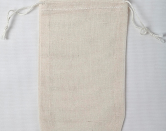 50 3.25x5 Double Drawstring Cotton Muslin Bags