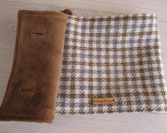 wool scarf, Harris Tweed neckwarmer, scarf for man - Valley