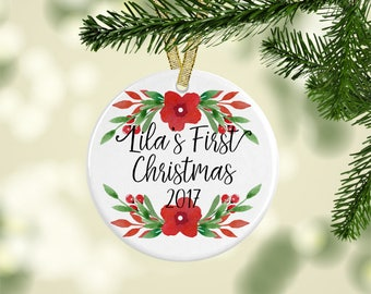 Personalized Ornament, Baby's 1st First Christmas, New Baby Gift