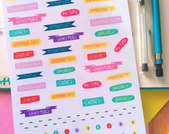Things to do and remember! Planner Stickers
