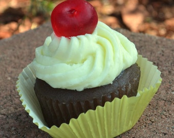 Cupcake Soap  - Sweet Cherry On Top Vegan Soap Cupcake -Vegan Soap - Fake Food - Food Soap - Sweet Soap - Valentines Day - Easter - Spring
