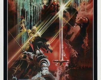 Spring Sales Event: Excalibur 1981 Fantasy/Drama Movie POSTER