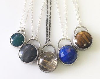 Alvina Necklace-Choose a stone