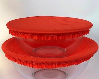 Reusable Bowl Covers, Orange