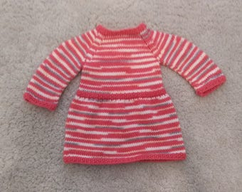 Pink and multicolor baby dress