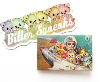 We Love Bittersqeaks - Rainbow Bear and Space Kate - and Sticker Pack