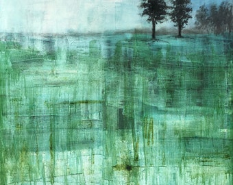 Original Landscape Oil painting Impressionistic wall art by Paige Smith-Wyatt