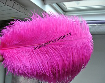 50 pcs Hot pink fuchsia ostrich feather plume for wedding party supply wedding centerpiece decor