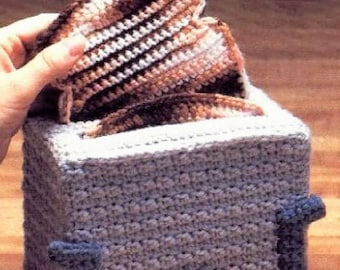 Vintage Crochet Pattern Toast and Toaster Potholders Set PDF Instant Digital Download  Crocheted Novelty Kitchen Pot Holders