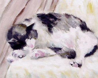 Commission Pet Portrait Painting by KAZUMI Free Shipping