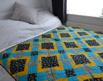 """Quilt: BUTTERCUP, 56"""" x 56"""" **REDUCED PRICE**"""