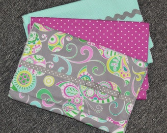 Boutique Burp Cloth Set/Multiple Fabrics Available