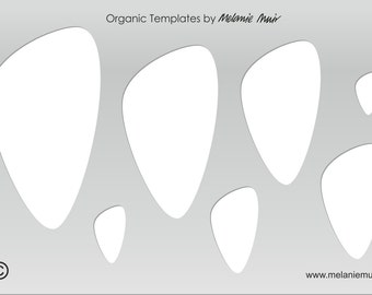 No 6 Clear Acrylic Template/Stencil for Polymer/Metal Clay/Jewellery/Crafting