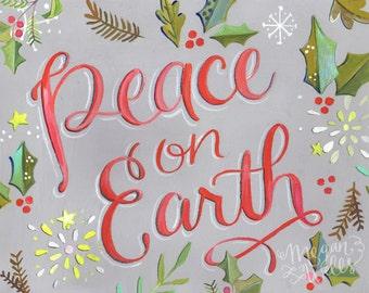 Peace on Earth - Christmas Art Print
