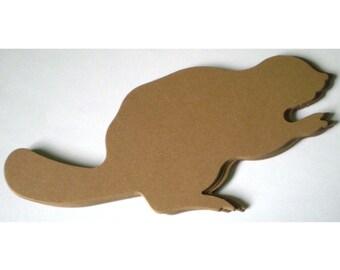 10 Large Brown Die Cut (Canadian) Beavers