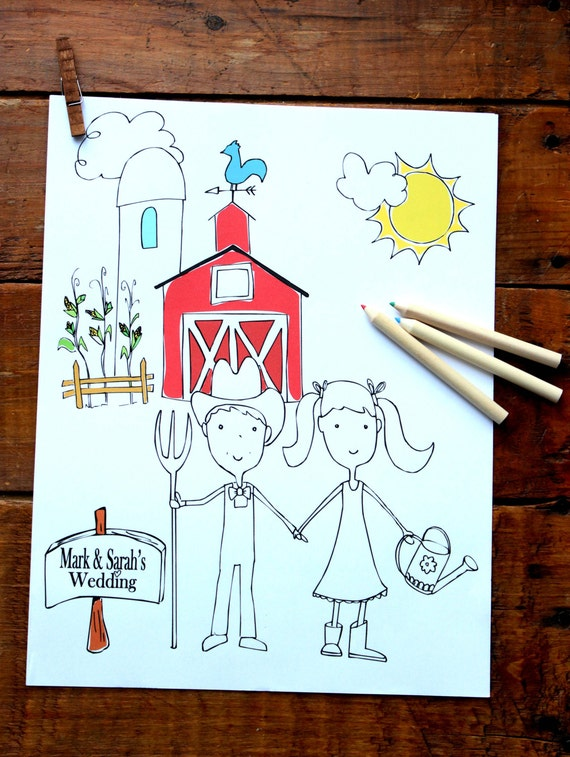 Wedding Favor Coloring Book for