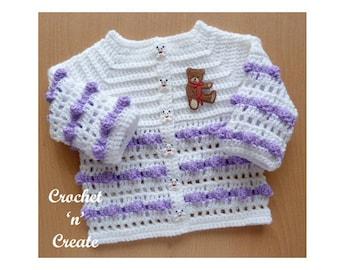Popcorn Coat Baby Crochet Pattern (DOWNLOAD) CNC66