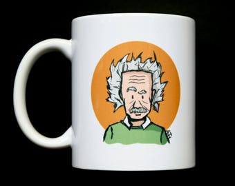 Albert Einstein Cartoon Mug