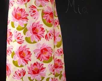 Sample SALE - Will fit Size S/M - Ready to MAIL - A-line SKIRT - Lillies - by Boutique Mia