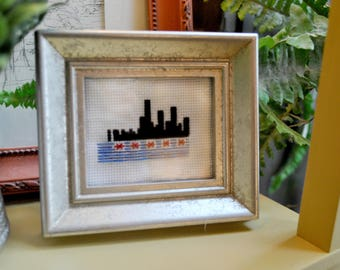 Chicago Skyline Cross Stitch