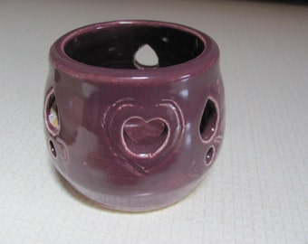 Candle Holder Ceramic Luminary Ceramic and Pottery Hosetss gift Gift for Her Home Decor Candles  Purple Luminary Handmade Ceramic Pottery