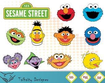 Sesame street svg file/ Sesame street svg, dxf, png/ Printable/ SVG cut file/ Vector/ Digital/ Print/ Instant download