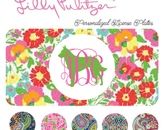 Belgian Malinois Monogrammed License Plate, Lilly Pulitzer, Car Accessory, Tag Plate