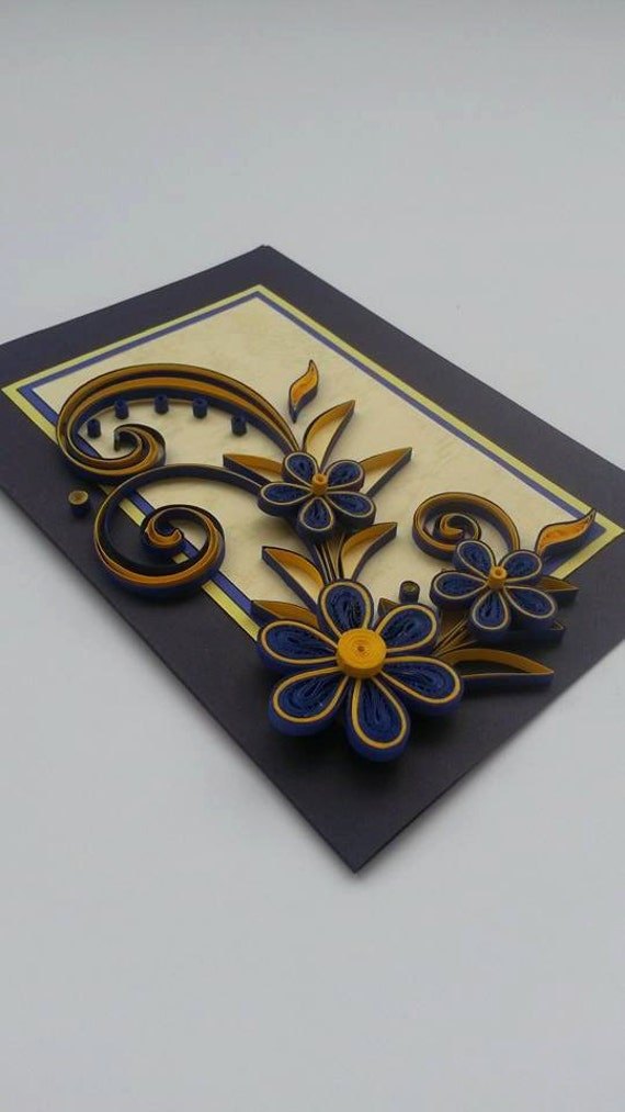 Quilled greeting card handmade card quilling design quilled greeting card handmade card quilling design birthday card bookmarktalkfo Choice Image