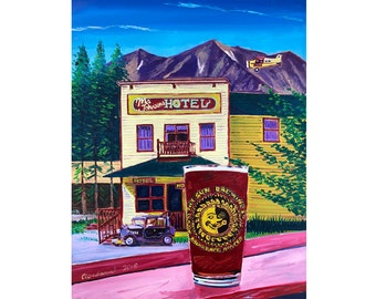 Ma Johnson's Hotel in McCarthy, Alaska Solstice Airplane Painting, Golden Saloon, Midnight Sun Brewing, Wrangell - St. Elias National Park