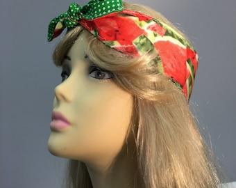Headband, 50s style, Fun Watermelon Retro, Pin Up, Headscarf