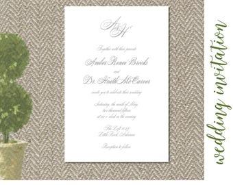 Gray Script Invitation Digital File