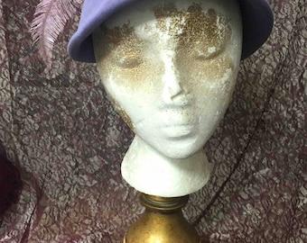 Hat, Vintage, Lavender, Feather, Felt
