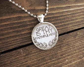 Great is Thy Faithfulness Pendant Necklace