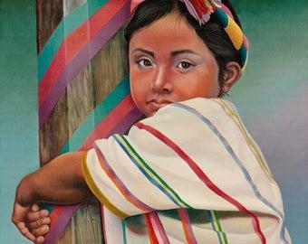 Muchachita // Giclee on Canvas
