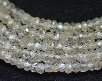 """SALE 3.5mm 13.5"""" Zircon faceted beads - natural and untreated ZIR005"""
