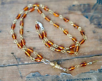 Amber and Camera Part Necklace