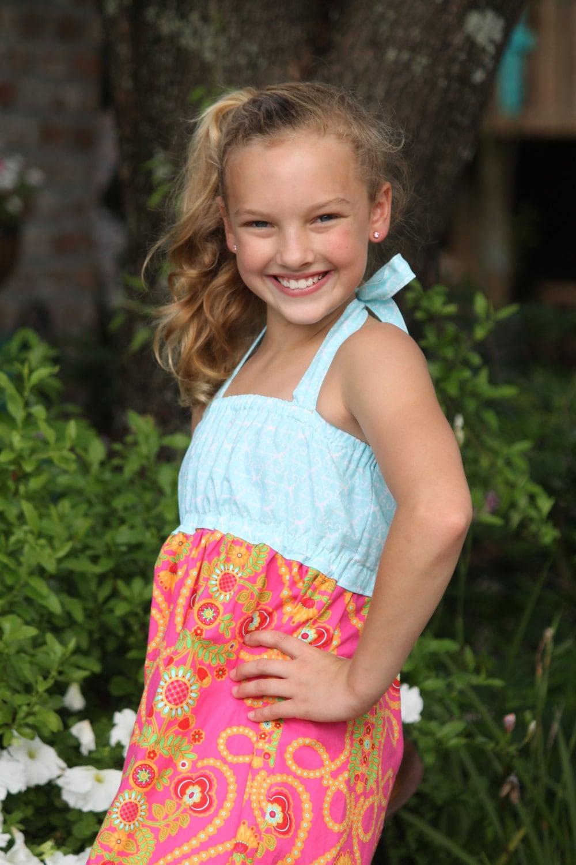 Preteen Candy Model Fashion Magazine Girl S Maxi Dress Pdf Sewing Pattern Seamingly Smitten