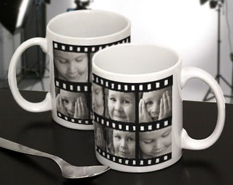 Photo Filmstrip Mug : Personalize with Your Favorite Photos