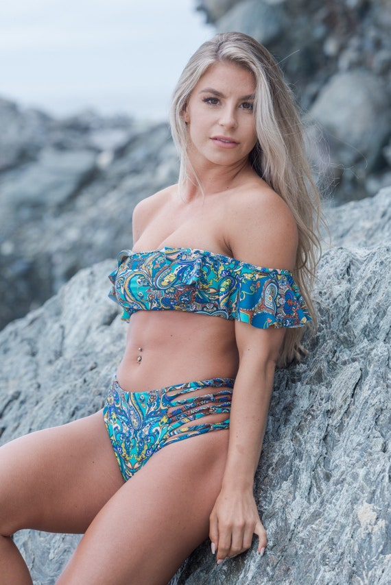 OTS Paisley Bikini Top made by SULTRY SWIMWEAR®