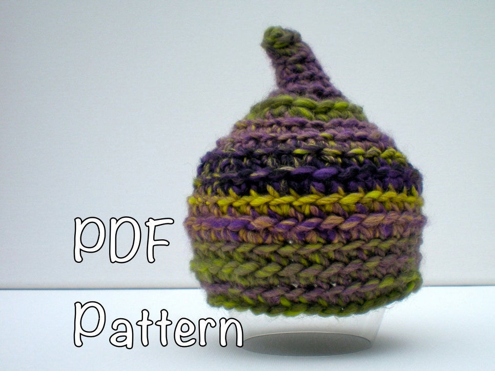 Pattern pixie baby hat gnome elf pointed hat easy crochet zoom dt1010fo